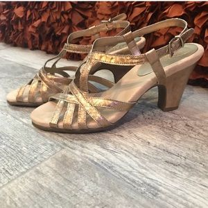 Aerosoles gold heel 8.5 dress sandal